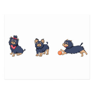 yorkie cartoons 2 postcard