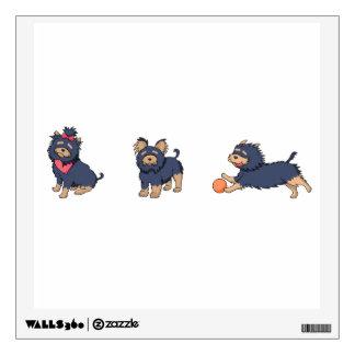 yorkie cartoons 2 wall sticker