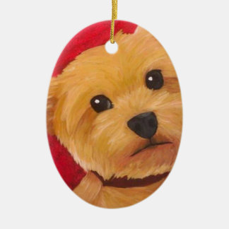 Yorkie Ceramic Ornament