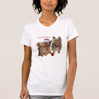 Yorkie Christmas Customizable T-Shirt