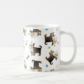 Yorkie Christmas Dog Seamless Pattern Mug