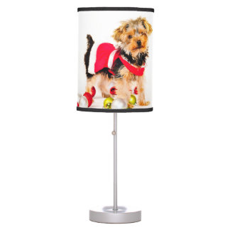 Yorkie Christmas Lamp