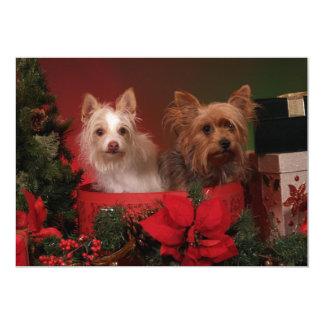Yorkie Christmas Party Invitations