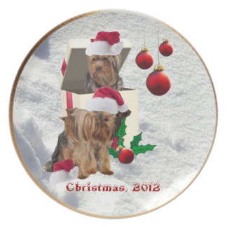 Yorkie Christmas Plate - Customize It!