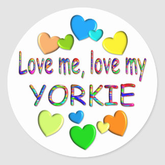 YORKIE CLASSIC ROUND STICKER