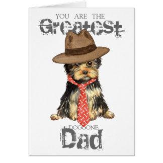 Yorkie Dad Card