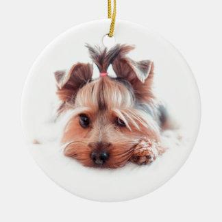 Yorkie Dog Love Yorkies Yorkshire Terrier Ceramic Ornament