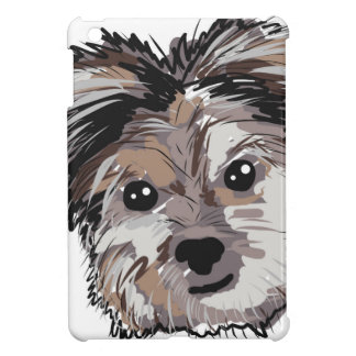 Yorkie Dog Pup Face Sketch Case For The iPad Mini
