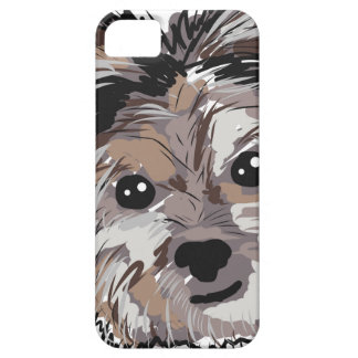Yorkie Dog Pup Face Sketch iPhone 5 Case