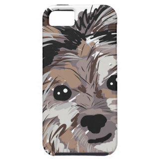 Yorkie Dog Pup Face Sketch iPhone 5 Cover