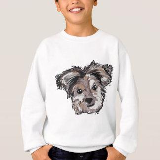 Yorkie Dog Pup Face Sketch Sweatshirt