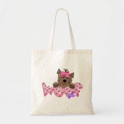 Yorkie Dog Woof Tote Bag