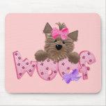 Yorkie Dog Woof Mousepad