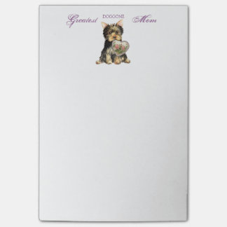 Yorkie Heart Mom Post-it® Notes