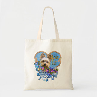 Yorkie I Love You Blues Tote Bag