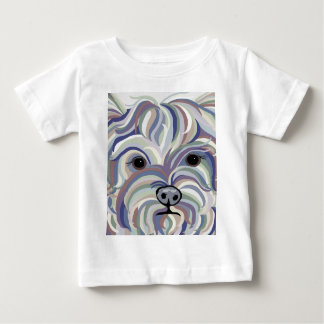 Yorkie in Denim Colors Baby T-Shirt