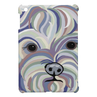 Yorkie in Denim Colors iPad Mini Cover