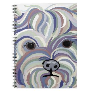 Yorkie in Denim Colors Notebook