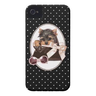 Yorkie in Handbag iPhone 4 Cases