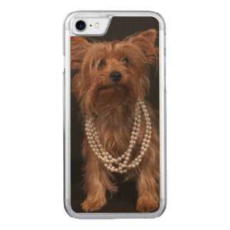 Yorkie in Pearls Carved iPhone 8/7 Case