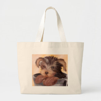 Yorkie in your Cup Large Tote Bag