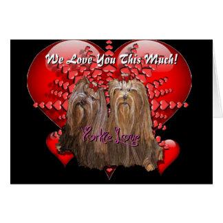 Yorkie Love - Card - We Love You