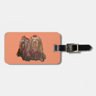 Yorkie Love Collection Luggage Tag