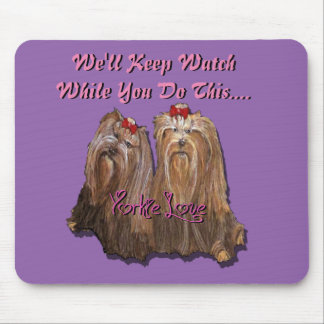Yorkie Love Collection Mouse Pad