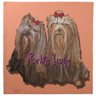 Yorkie Love Collection Napkin