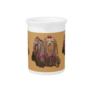 Yorkie Love Collection Pitcher