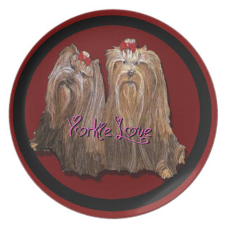 Yorkie Love Collection Plate