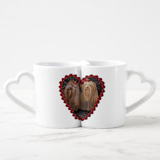 Yorkie Love Couples Cups