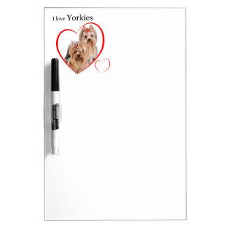 Yorkie Love Dry Erase Board