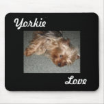 yorkie love mouse pads