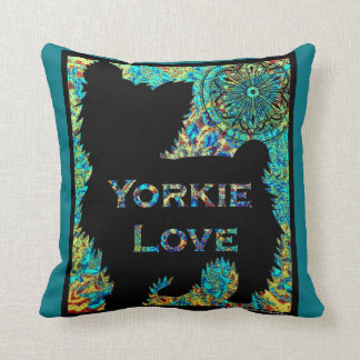 Yorkie Love pillow by Carol Zeock