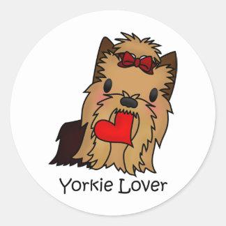Yorkie Lover, Yorkshire Terrier Round Sticker