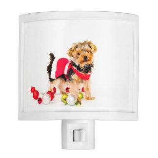 Yorkie Merry Christmas Night Light