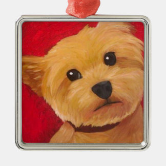 Yorkie Metal Ornament