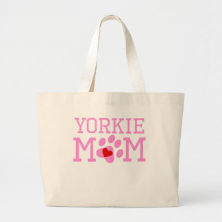 Yorkie Mom Large Tote Bag