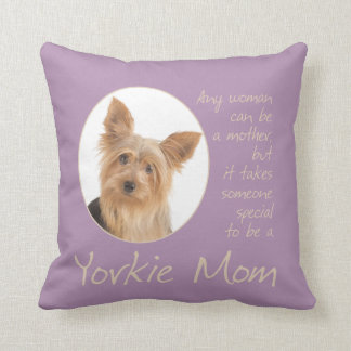 Yorkie Mom Pillow