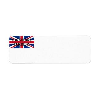 yorkie name on flag return address label