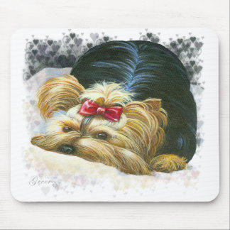 Yorkie Peek a Boo Mousepad Art