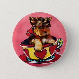 Yorkie Poo 2 Inch Round Button