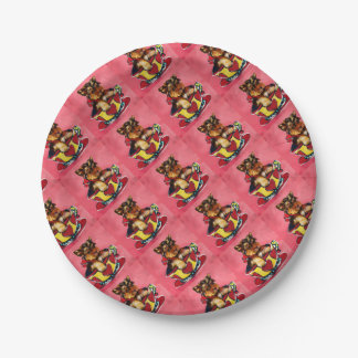 Yorkie Poo 7 Inch Paper Plate