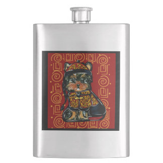 Yorkie Poo, Dog of the Year 2018! Hip Flask