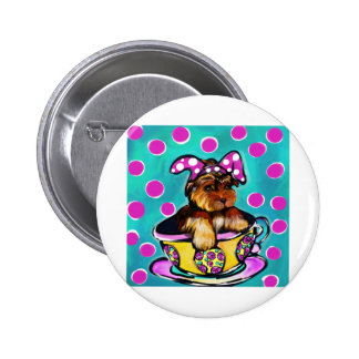 Yorkie Poo Easter 2 Inch Round Button