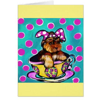 Yorkie Poo Easter Card
