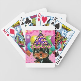 Yorkie Poo Party Dog Bicycle Playing Cards