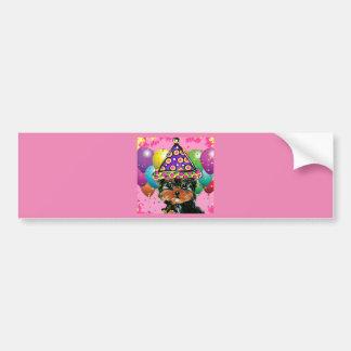 Yorkie Poo Party Dog Bumper Sticker