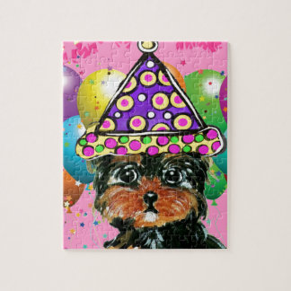 Yorkie Poo Party Dog Jigsaw Puzzle